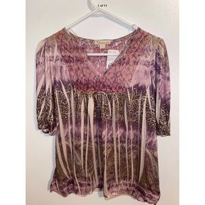 Forever 21 Blouse, pretty colors, large, NWT